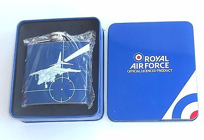 Royal Air Force 5oz Stainless Steel Hip Flask ~ HARRIER HIP FLASK ~ New in Box
