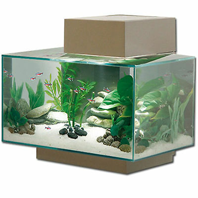 Aquarium Nano Fish Tank Fluval Edge Led Pewter Gloss Indoor Aquatics New 23L