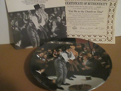 "1990 knowles/CBS william chambers collector plate ""get me to the church on time"""