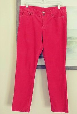 NWT J.Crew Toothpick Cord Corduroy Skinny Pants Jeans Size 32 Brilliant Coral