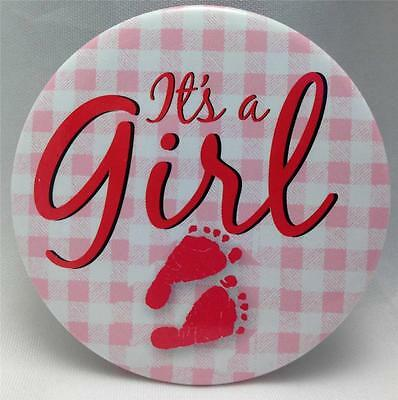 Birth Announcement Button Pins : It's a GIRL Button Pin *NEW* New Baby Girl Gift