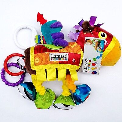 Baby Toddler Kid Child Rattle Crinkle Teether Attachable Activity Toy Horse Doll