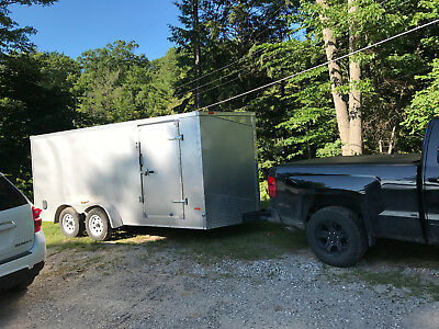 2015 16 ft Enclosed cargo tandem axle trailer