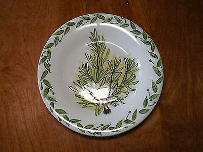 "Tabletops BOTANICAL HERBS  Set of 6 Salad Plates 8 1/2"" Green Herbs 6 designs"