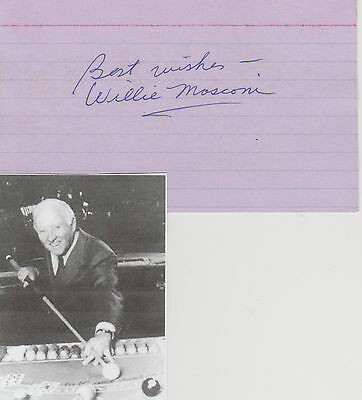 Willie Mosconi signed card!