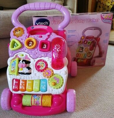 VTech First Steps Baby Walker - Pink. Brand new never used only put together