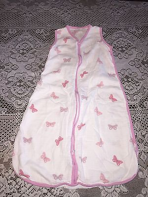 Girls Aden & Anais Sleepsack Cotton Butterfly Wearable Blanket Large 12-18 month