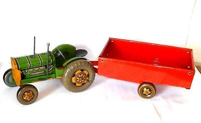 Mettoy large Tractor & trailer from the Modern Farming Set - vintage 1950`s toy