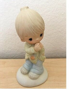 Precious Moments Figurine--Smile God Loves You--Very Nice!