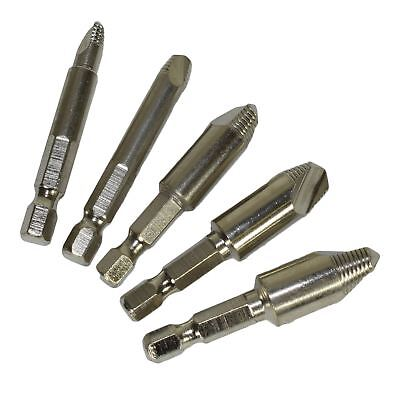 5pc Damaged Screw Stud Drill Bolt Remover Easy Out Extractor Thread #0 - #4