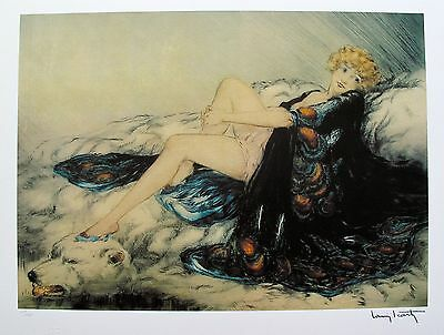 Louis Icart SILK ROBE Signed Limited Edition Giclee Art