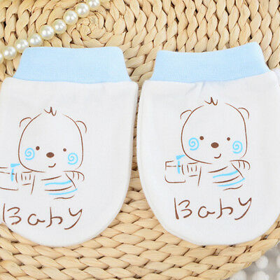 Baby Unisex Cute Warm Mittens Cotton Anti Scratch Soft Breathable Glove JX