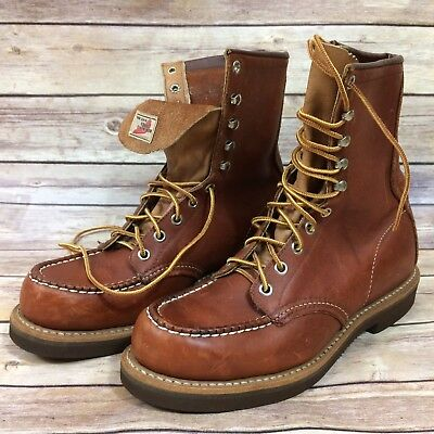 Red Wing VTG Men's 6.5 USA Made 1960s Moc Toe Boots Armortred Collector Work