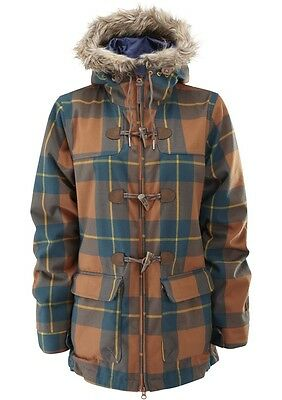 Westbeach Women's Rusty Plaid Beatty Duffle Jacket. Various Sizes RRP £180. BNWT