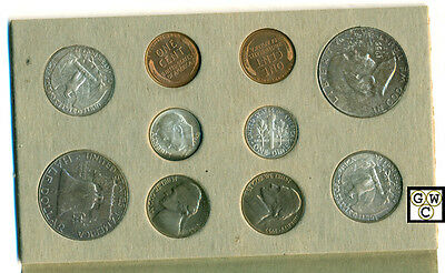1955US Mint Original sets 8coins with'D',10 coins'Plain' & 4 with'S' in Envelope