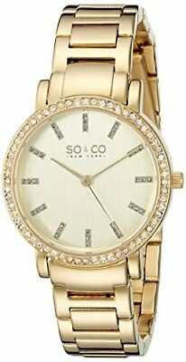 SO&CO New York Women's 5060.3 Madison Quartz Stainless Steel 23K Gold-Tone Watch