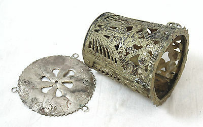 Antique Byzantine Style Russian Orthodox Christianity Priest Candle Holder Icon