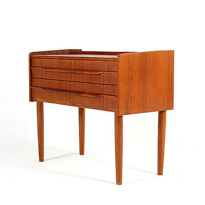 Retro Vintage Danish Modern Teak Hallway Bedside Table Chest of Drawers 60s 70s