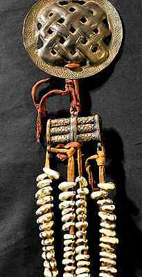 Authentic Traditional Ladakhi Cowrie & Brass Belt Adornment, early 20th Century