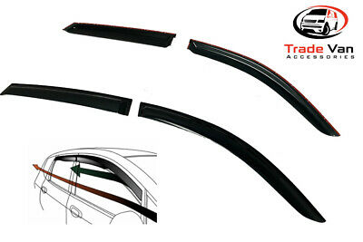 Audi Q3 Smoke Tinted Wind Deflectors Visors Set Of 4 Front And Back 2011 On