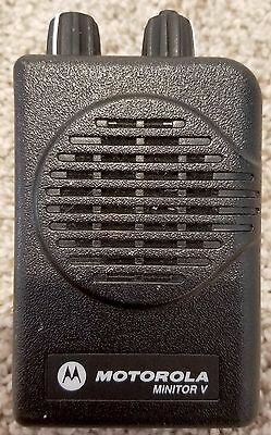 Motorola Minitor V 5 UHF 2-channel Stored Voice Fire EMS Pager