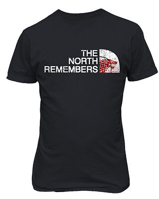 "Game of Thrones ""The North Remembers"" Direwolf Mens & Youth T-Shirt"