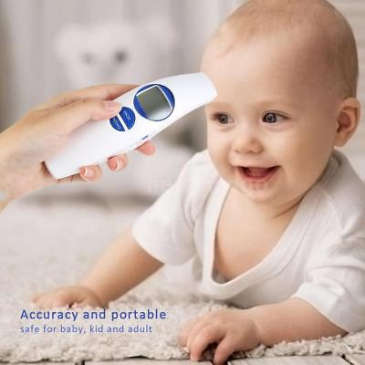 IR Infrared Body Thermometer Forehead Baby Adult Surface Temperature White A8P1