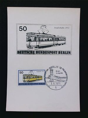 BERLIN MK 1971 383 STRAßENBAHN TRAM MAXIMUMKARTE CARTE MAXIMUM CARD MC CM c5924
