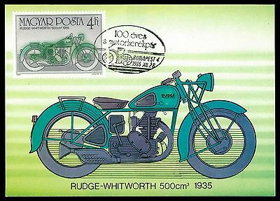 UNGARN MK MOTORRAD MOTORCYCLE RUDGE-WHITWORTH CARTE MAXIMUM CARD MC CM al04
