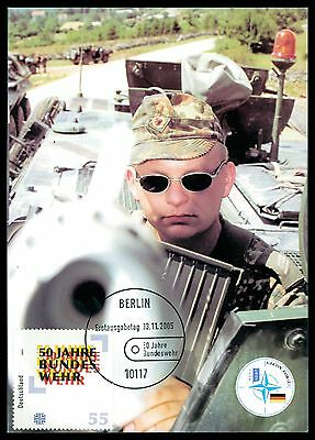 BUND MK 2005 BUNDESWEHR PANZER PRIVATE !! MAXIMUMKARTE MAXIMUM CARD MC CM cc83