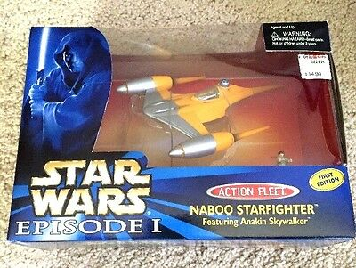Star Wars Micro Machines Action Fleet FIRST EDITION Naboo Starfighter RARE  MIB