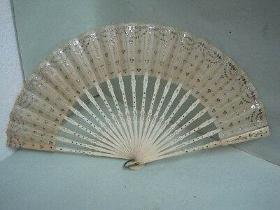 19 th century Fan with sequins