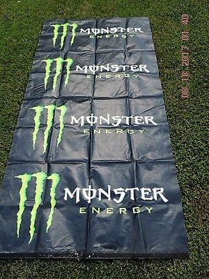 """MONSTER ENERGY Drink Official Tybek Banner 8'L x 4""""W stands verticle"""