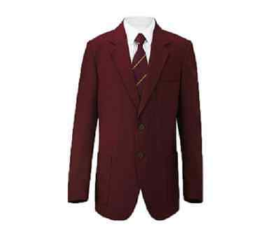 "RUSSELL Youths/Mens Maroon Classic Blazer School Jacket 48"" Chest BNWT"