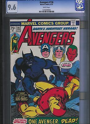 Avengers # 136 CGC 9.6  White Pages. UnRestored.