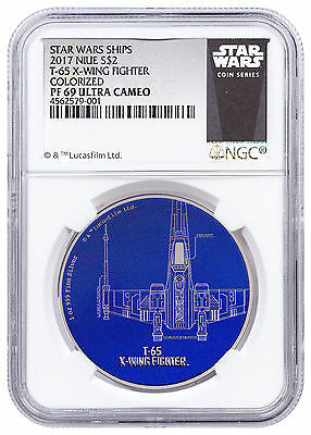 2017 Niue Star Wars Ships T-65 X-Wing Fighter 1 oz Silver $2 NGC PF69 SKU48617