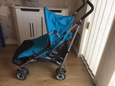 Blue Chicco Pushchair With Footmuff And Raincover