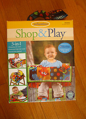 NEW Infantino Shop & Play 3 in 1 Shopping Cart Cover Tummy time playmat