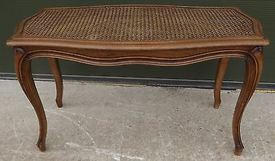 Antique Style Serpentine Window Seat Bench With Bergere-Work Top Reproduction
