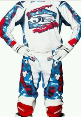 New 2017 JT Racing MX PANTS & JERSEY Limited Edition Bones hyperlite motocross