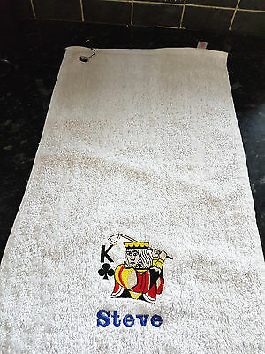 Golf Towel Embroidered Personalised Name and message
