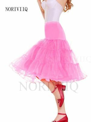 Pink Petticoat 50s Swing Short Rockabilly XL Tutu/Fancy Net Skirt Slop USA STOCK