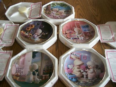 Enesco Presious Moments Lot Of 5 Hamilton Collection Plates With Certificates