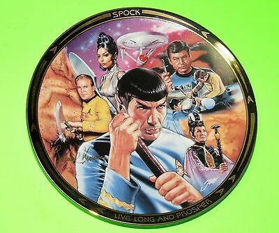 "STAR TREK RARE ""LIFE of SPOCK"" AMOK TIME COLLECTOR PLATE,  NEW w COA"