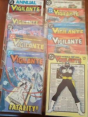 Lot of 10 Vigilante comics DC  #1-6 + others