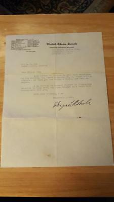 Typed Letter on US Senate Letterhead signed by Hugo L. Black Autograph Judge