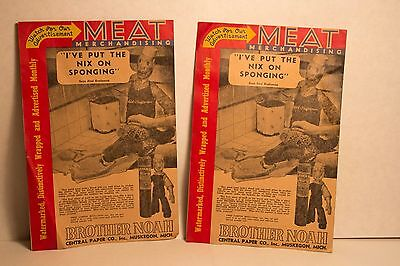 TWO Brother Noah Butchers Meat Paper samples Centraline Papers Muskegon MI