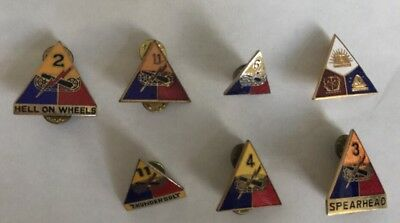 Vintage Lot Of 7 US Military Pins Lapel DIs