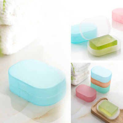 Home Bathroom Shower Travel Hiking Soap Box Dish Plate Holder Case Container