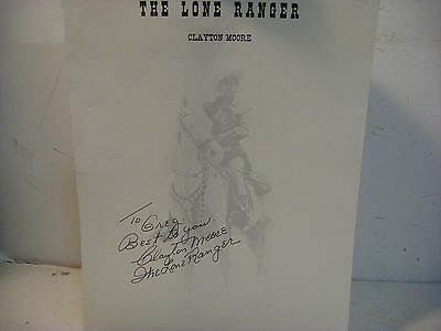 Clayton Moore Signed 8x10 Photo / Autographed Lone Ranger